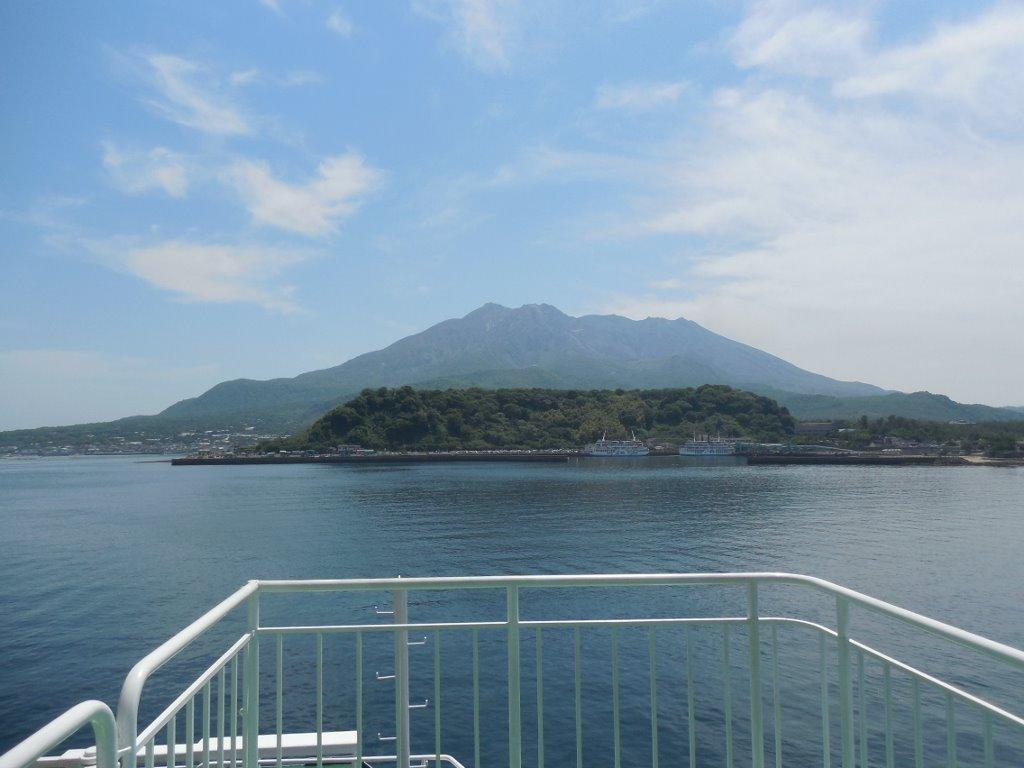 桜島フェリーに乗りました。