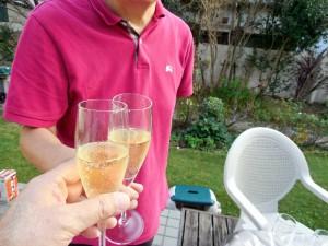 スパークリング・ワインで乾杯