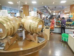 ワインや焼酎の売り場
