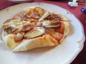 美味しいピザです。