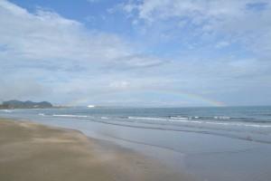 素晴らしい虹が!