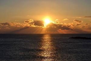 2015年初日の出 大淀川河口から日向灘を望む。