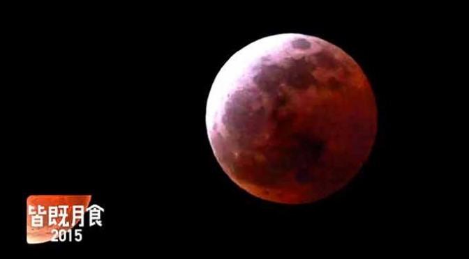 皆既月食、なんとか撮影!