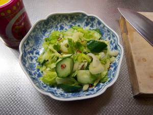 野菜の昆布茶漬け