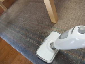 難物の食卓下の絨毯の掃除
