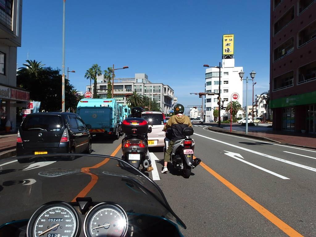 宮崎市街地走行