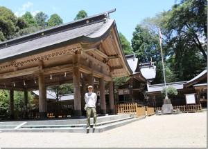 狭野神社前で撮影