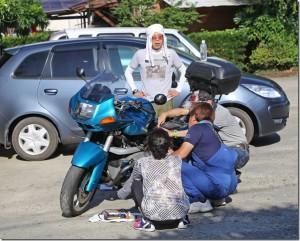バイク始動せず!