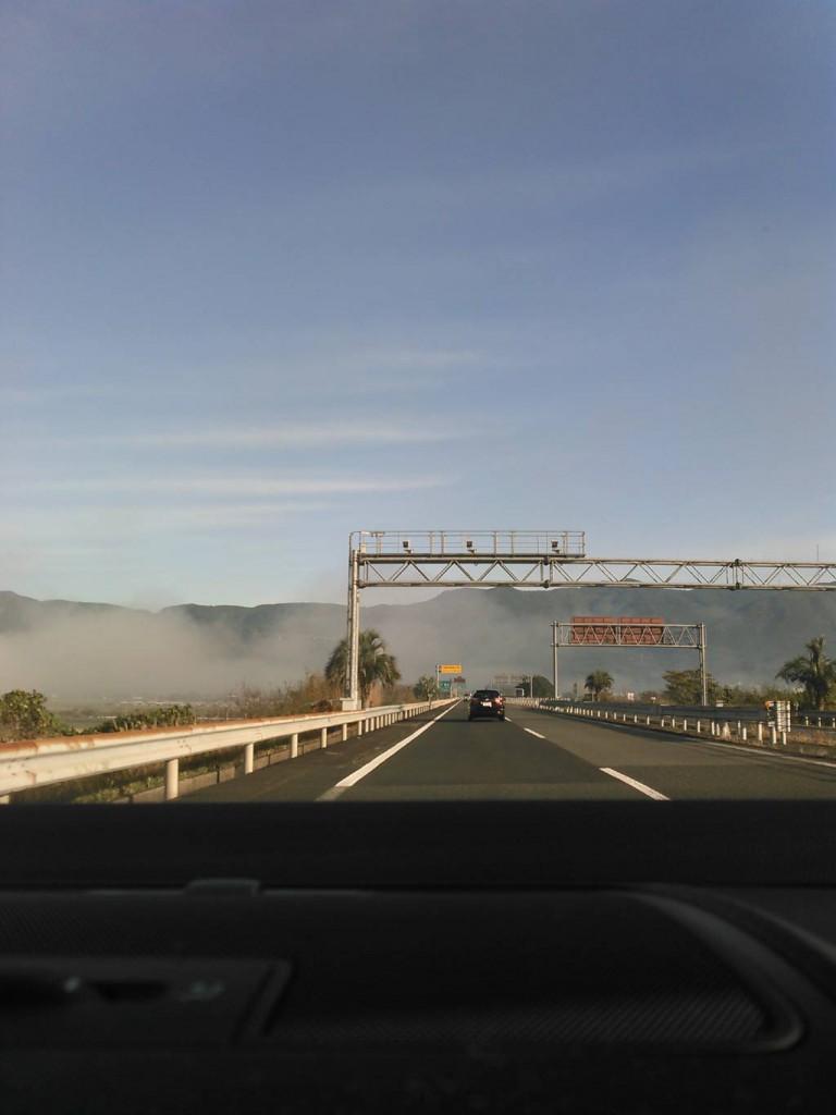 朝霧が凄い、