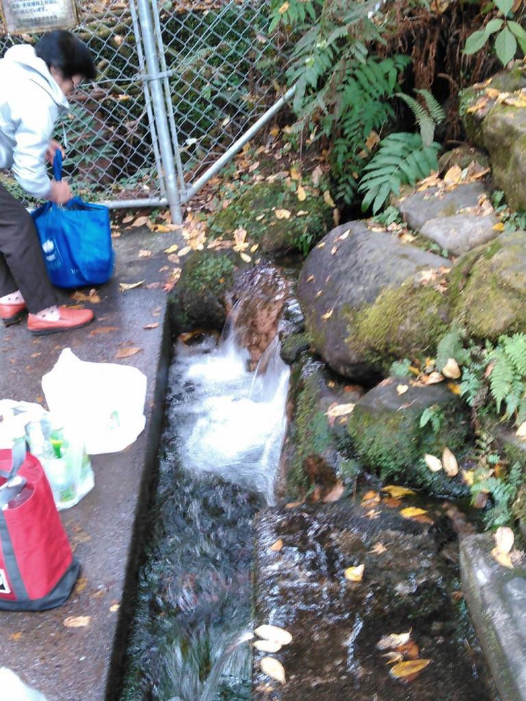 阿蘇の伏流水は新鮮で素晴らしい味