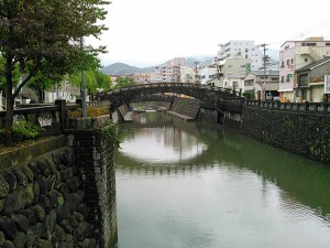 長崎の中島川の石橋群