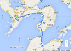 長崎~天草ルート地図