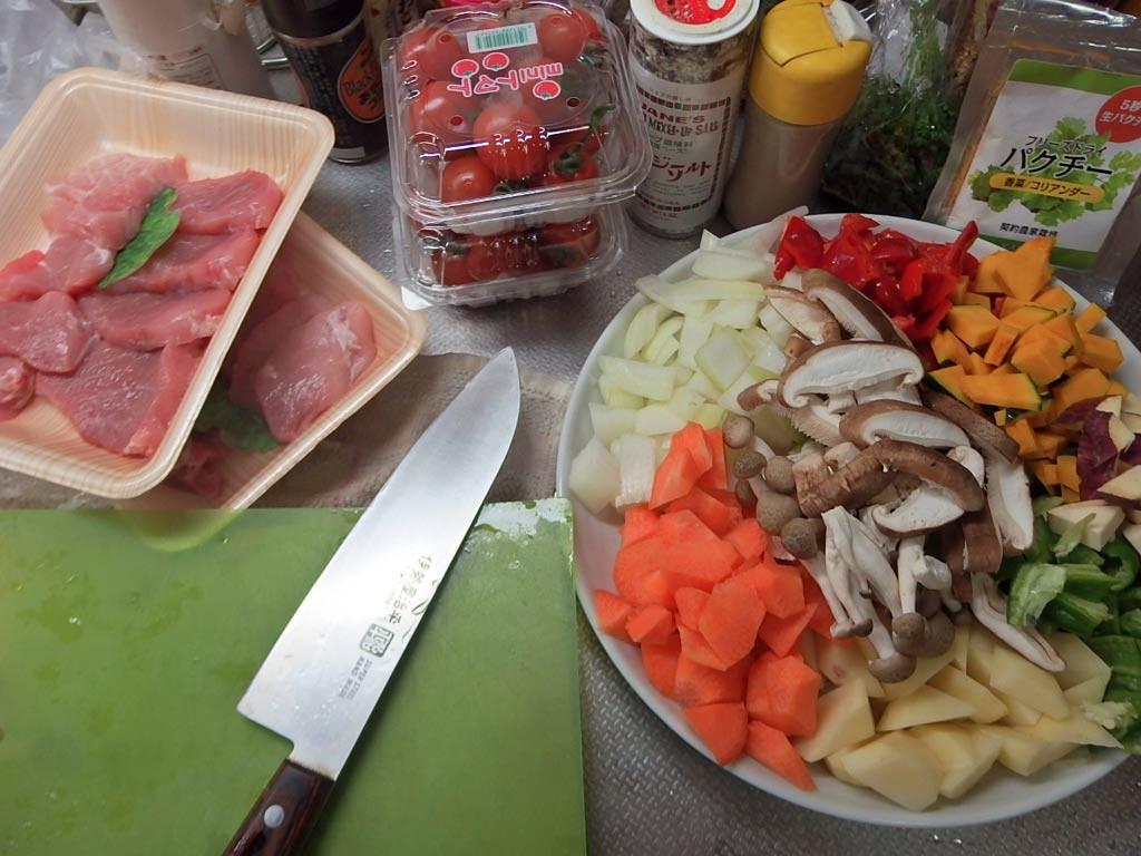 前もっと準備した、肉野菜オーブン焼き