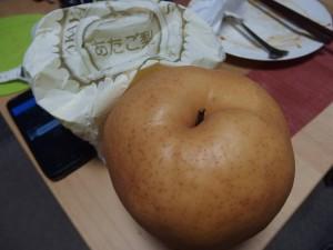 巨大な「あたご梨」が出て来ました。